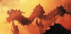 летящий дракон